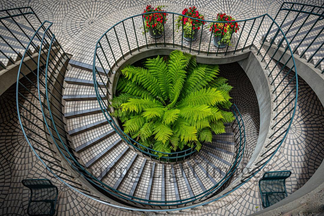 Staircase at the Embarcadero Center 3 - San Francisco