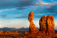 Brilliant Balanced Rock Sunset